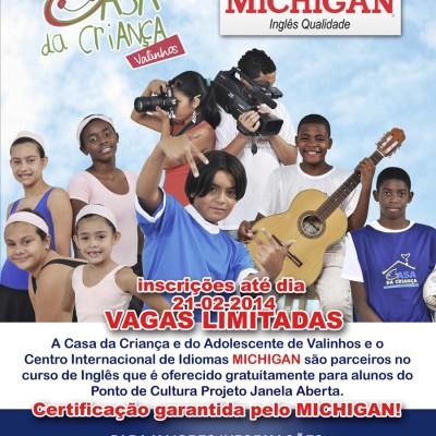 CARTAZ MICHIGAN projeto social escola de ingles valinhos