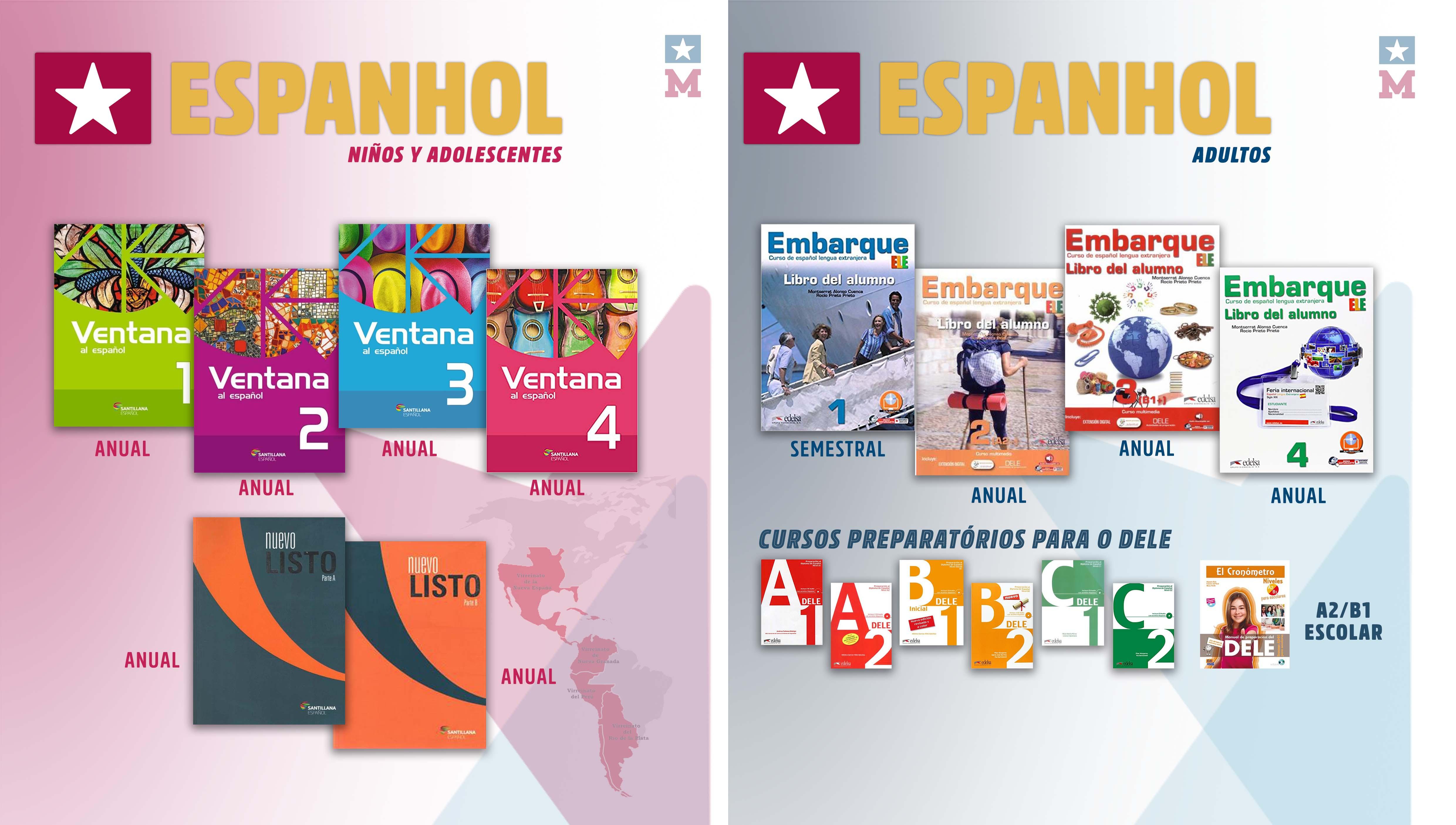 Curso de Espanhol para Crianças e Adolescentes - Escola Michigan Valinhos material didático